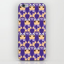 Super cute cartoon cow in purple - a moo-st have design for cow enthusiasts! iPhone Skin