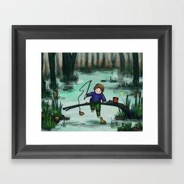 Odd Fishing Framed Art Print