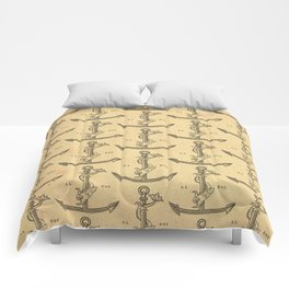 Aldus Manutius Printer Mark Comforters