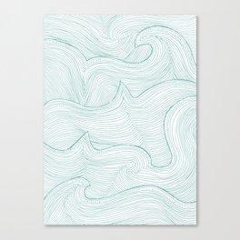 seafoam wave pattern Canvas Print