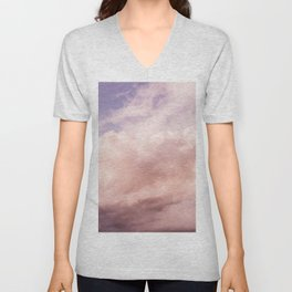 Perfect Pink Summer Sky Nature Photography Unisex V-Neck