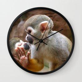 Monkey Love and Attitude  Wall Clock