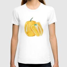 yellow bell pepper watercolor T-shirt