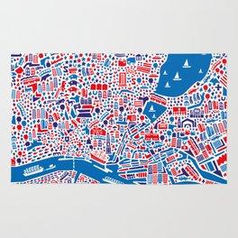 Hamburg City Map Poster Rug