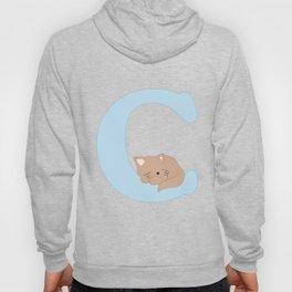 C - blue cat Hoody