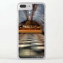 Tunnel of lights Clear iPhone Case