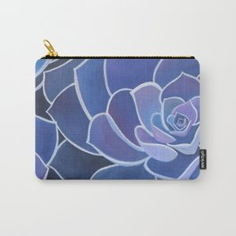 Purple Succulents Carry-All Pouch