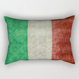 Flag of Italy, Vintage Retro Style Rectangular Pillow