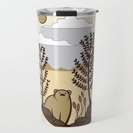 Cute Bear in the Forest Travel Mug