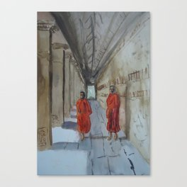 Monk Business Canvas Print
