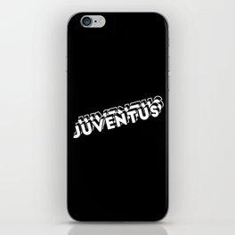 Juventus - BLACK AND WHITE - BLACK iPhone Skin