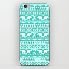 Elephant Tribal Mint iPhone Skin