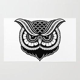 Traditional Owl Print Rug