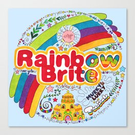 Rainbow Brite Canvas Print