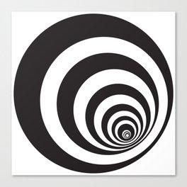 Black&White Spirally Canvas Print