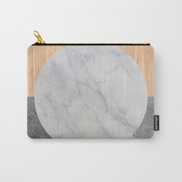 Abstract - Marble and Wood Carry-All Pouch