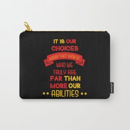 Harry Potter Quote Carry-All Pouch
