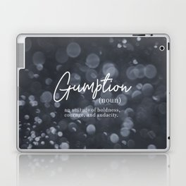 Gumption Definition - Word Nerd - Gray Bokeh Laptop & iPad Skin