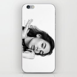 Dua Lipa Pencil Drawing iPhone Skin