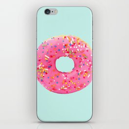 Giant Donut on Mint iPhone Skin