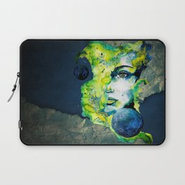 Esther Green (Set) by carographic watercolor portrait Laptop Sleeve