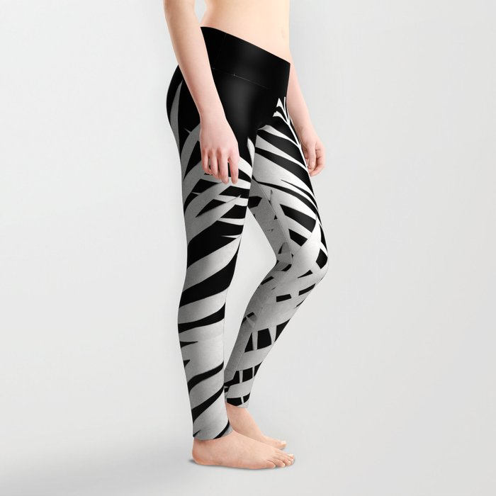 Palm Leaves White Leggings