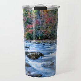 Fall in the Smokies - Autumn Colors at Laurel Creek in Smoky Mountains Travel Mug