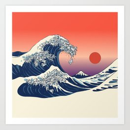 The Great Wave of Maltese Art Print