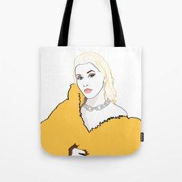 CHRISTINA AGUILERA LIBERATION Yellow Fur Jacket Tote Bag