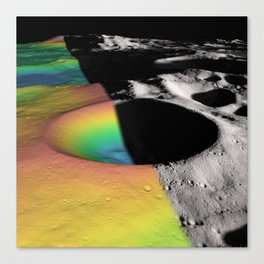Rainbow Moon Craters Canvas Print
