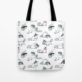 Coon Comic Pattern Tote Bag