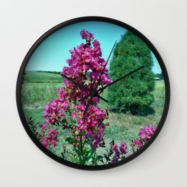 Crepe Myrtle Wall Clock