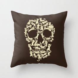 Catskull Throw Pillow