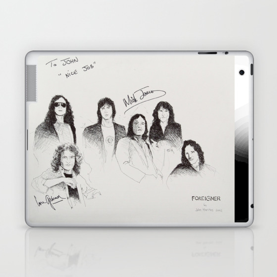 Foreigner Laptop & Ipad Skin by Johnnyrockharitos LSK8831023