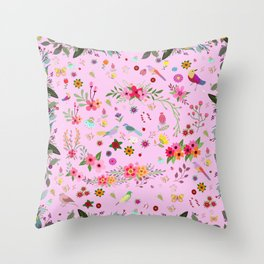 Say I love you with flowers Throw Pillow