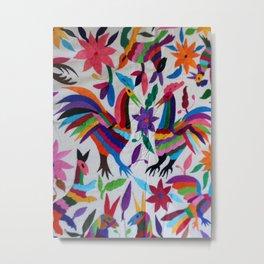 Multiclor Otomi Animals Metal Print
