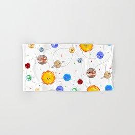 Kawaii Solar System Pattern Hand & Bath Towel
