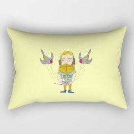 cloud swallows Rectangular Pillow