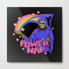 Power Nap Metal Print
