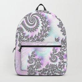 Classy Purple Fractal Art Backpack