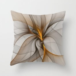 Elegant Chaos, Abstract Fractal Art Throw Pillow