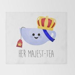Her Majest-tea Throw Blanket