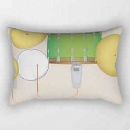 Drum Set Print Rectangular Pillow
