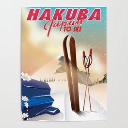 Hakuba Japan travel poster Poster
