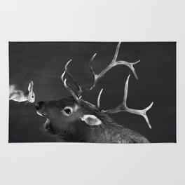 Elk and Rabbit Rug