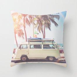 Camper Van Throw Pillow