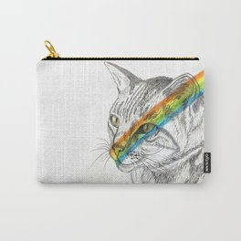 Cat's eye rainbow Carry-All Pouch