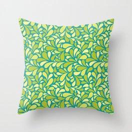 Drops of green Throw Pillow