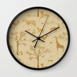 Safari in the Serengeti Wall Clock