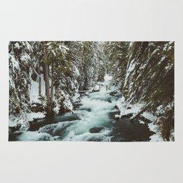 The Wild McKenzie River Portrait - Nature Photography Rug